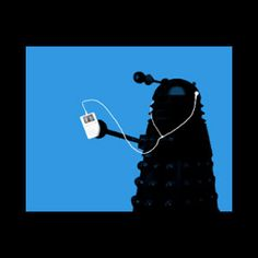 dalek dr who with ipod funny t shirt