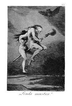Goya's Los Caprichos - witches heading to a Sabbath