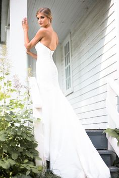 A stunning fitted wedding dress with a strapless, sweetheart neckline. | Kennedy Blue Bridal Gown Savannah