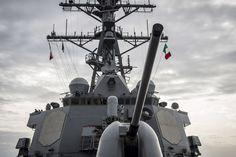 USS Porter arrives in Augusta Bay, Italy.