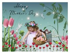"""""""Happy Mother's Day!"""" by rasaj ❤ liked on Polyvore featuring art"""