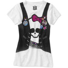 Monster High Girls Skully Vest Graphic Tee