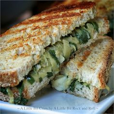 A Little Bit Crunchy A Little Bit Rock and Roll: Spinach Artichoke and Hummus Grilled Panini