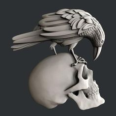 STL models for CNC, Artcam, Aspire, relief cross whit skulls Zbrush Hair, Drawings Pinterest, Skull Model, Stl File Format, Modelos 3d, 3d Cnc, Stencil Art, Cnc Router, Skull Art