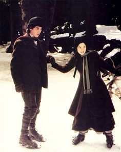 """Christian Bale (Theodore """"Laurie"""" Laurence) & Winona Ryder (Jo March) - Little Women directed by Gillian Armstrong (1994) #louisamayalcott"""