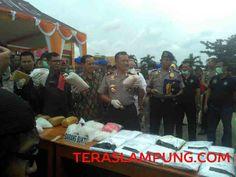 Selama September 2016, Polda Lampung Ungkap 853 Kasus dan 1.200 Tersangka Narkoba