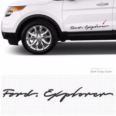 Car Slogan Decal Lettering Sticker 10009 B  for Ford Explorer Detail korea Grien #Griben