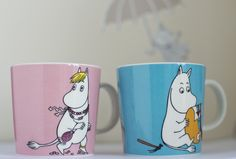 The new Moomin and Snorkmaiden mug from Arabia. ::Moomin is relatively unknown in the US:: Fantasical series of books from Sweden & Finland.