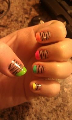 Simple neon and zebra!