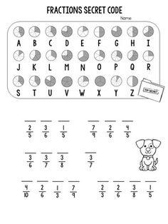 Fractions Worksheets, Printable Math Worksheets, Math Fractions, Equivalent Fractions, Dividing Fractions, Multiplication, Fraction Activities, Math Resources, Math Games