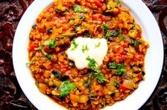 Yellow Lentils With Spinach & Ginger #recipe #food #diabetic