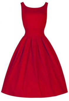 Vintage Scoop Neck Sleeveless Dress ==