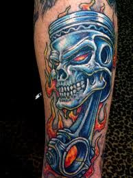 1000 images about tattoos on pinterest evil tattoos for Skull piston tattoo