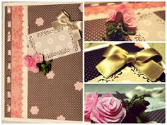 Handmade card with roses