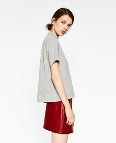Image 2 of HIGH NECK T-SHIRT from Zara