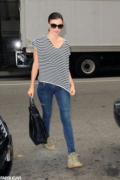 Dressed-down and totally cool in Isabel Marant kicks. | Miranda Kerr Has an Outfit For Just About Everything | POPSUGAR Fashion