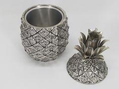 Vintage metal pineapple ice bucket. Vintage Metal, Unique Vintage, Vintage Items, Pineapple Ice Bucket, Vase, Decor, Decoration, Vases, Decorating