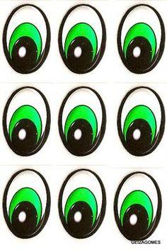 olhos de bichinhos para imprimir - Google Search