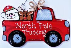 Christmas Wood Crafts, Christmas Truck, Christmas Signs, Holiday Crafts, Vintage Christmas, Red Christmas, Christmas Decorations, Cabin Christmas, Outdoor Christmas