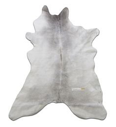 Grey Calf Skin Size: 45X 35 in Grey and White by deluxecowhides