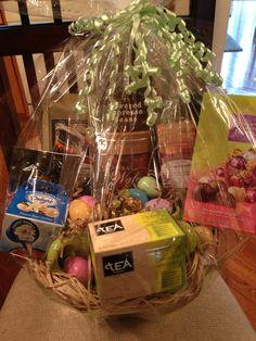Scratch ticket basket ideas adult easter basket wine small coffeetea easter basket coffee tea creamer chocolates etc negle Choice Image