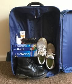 Pack the heaviest items in the bottom of a suitcase for easier rolling and less clothing wrinkles.