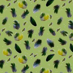 Estampa Têxtil 'penas' por Ana Isa Zanesco
