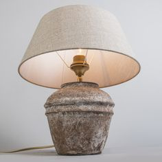 Table Lamp Arta XS Vintage with Shade 35cm Linen-Natural
