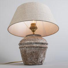 Lámpara de mesa ARTA XS vintage con pantalla 35cm lino natural #decoracion #iluminacion #interiorismo