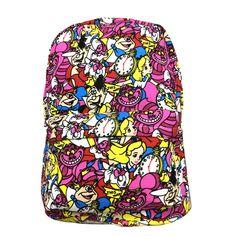 35b49a9b7fce4 Plecak Mochilas Plecak Mochila Escolar Alice In The Wl Plecak z nadrukiem  Anime Zipper Torba na ramię School Unisex 2018 Nowe torby na prezenty