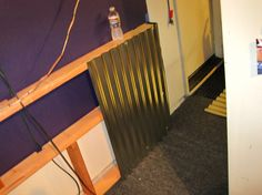"""HOW TO! Adding a Corrugated Metal """"Wainscoting-Type"""" Wall"""