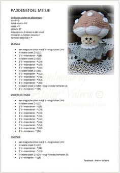 Atelier Valérie: Haak Patronen Kawaii Crochet, Crochet Daisy, Crochet Flowers, Crochet Crafts, Crochet Toys, Crochet Projects, Crochet Doll Pattern, Round Robin, Arrows