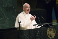 My Blog: At U.N., pope condemns 'boundless thirst' for weal...