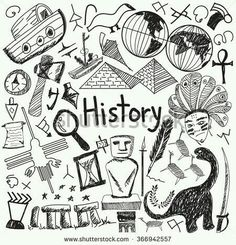 History education subject handwriting doodle icon of landmark location culture s., EDUCATİON, History education subject handwriting doodle icon of landmark location culture sign and symbol white isolated background paper used for presentation t. History Icon, History Education, Teaching History, Binder Covers, Notebook Covers, Doodle Drawings, Doodle Art, Doodle Icon