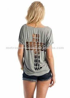 Cross Cut-out Short Sleeve T-shirt