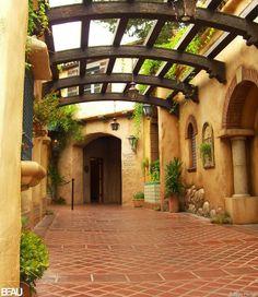 Beautiful courtyard #house ideas                                                                                                                                                      More
