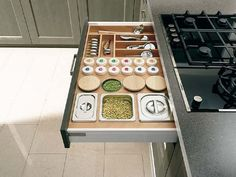 Kitchen Spices at Practical Organization in the Kitchen Cabinet Comfortable Kitchen Inspiration