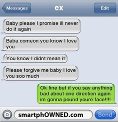 Your* hahaha my friend fights over text with this one guy and she always sends me the whole convos and its hilarious