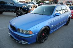 Matte Blue BMW Wagon