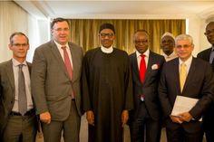 Nigerian President Muhammadu Buhari, NNPC boss meet with CEO of Total plc - http://www.nollywoodfreaks.com/nigerian-president-muhammadu-buhari-nnpc-boss-meet-with-ceo-of-total-plc/