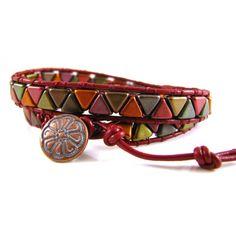 Kheops Bead Wrap Bracelet Kit - Violet Rainbow