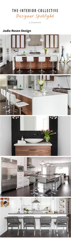 Check out the latest in award winning Jodie Rosen Designs' kitchen renovations and bathroom designs! If you're looking for kitchen island inspiration, kitchen decor, or powder room designs, head over to interiorcollective.com