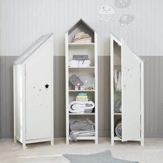 Armoire enfant en bois blanche L 45 cm Songe | Maisons du Monde