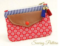 Clutch Pattern, Purse Pattern, Clutch Purse Pattern, Sewing Pattern PDF, Cosmetics Clutch Pattern, Wristlet Purse Pattern SHIELD (B901)