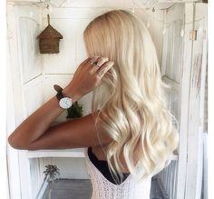 This blonde hair color is beautiful.