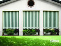Tenda A Caduta Con Guide Laterali Colore Grigio | Tende Da Sole | Pinterest