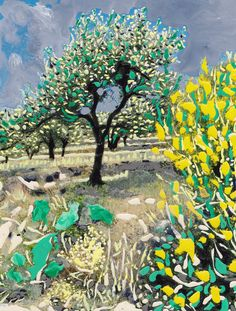 'Olive+Tree+&+Gorse+Bush'+by+Erwin+Nas+on+artflakes.com+as+poster+or+art+print+$16.63