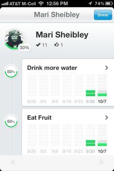 Lift iPhone stats screenshot