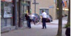 Politie schopt man in elkaar in Rotterdam