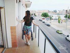 #look #outfit #camisaleñadora #shorts #denim #shortsdenim#turquesa #nike #air #airforce #dc